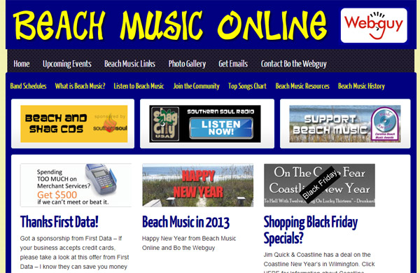 Beach Music Online Site