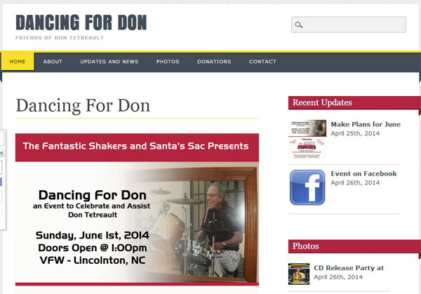 Dancing for Don website